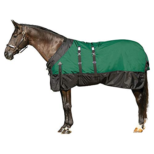 STORM SHIELD Extreme Turnout Blanket - Playful Horses | Heavyweight - 380 Grams | Size 80 - Purple | 1680 Denier | Contour Collar | Bellyband Closure | Waterproof, Windproof & Breathable