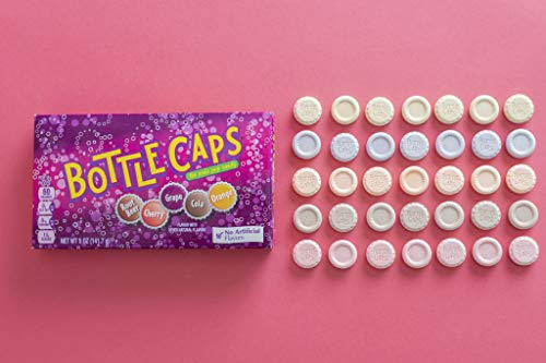 BottleCaps Theater Box Candy, Cherry/Grape/Root Beer/Orange, 5 Oz (Pack of 10)