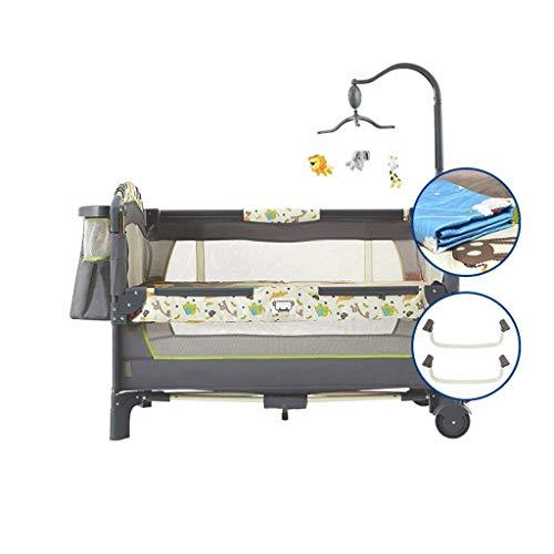 HLR Multifunktional Kinderreisebett Crib Für Baby Sleeptight Spiel Bett Tragbar Falten Mit Matratze Moskito Netto (Color : A)