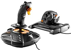 The T.16000M FCS HOTAS is compatible with PC via USB in Windows 10, 8, 7 and Vista (32-bit and 64-bit) 16 action buttons with braille - style physical button identification Exclusive precision:Hall Effect accurate technology 3D (Hall Effect) magnetic...