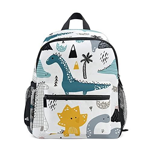 Dinosaurio Niños Mochila Cómodos Niños Niños School Bags Kindergarten Bolsa de Preescolar de Kindergarten 3-8 años de Escuela de Edad para niño (Color : 02)