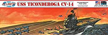 USS Ticonderoga CV-14 1/500 Angled Deck Aircraft Carrier Atlantis Toy and Hobby Plastic Ship Model kit Made in The USA
