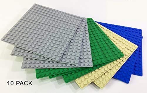 Brick Loot 10 Pack Compatible 5 X 5 inches Baseplates 16 x...