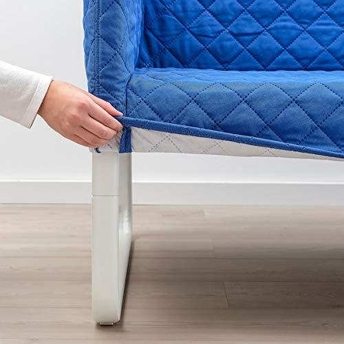 MSAMALL KNOPPARP Sofá de 2 plazas, Knisa azul brillante, 119x76x69 cm, duradero y fácil de cuidar, sofás de dos plazas, sofás de tela, sofás y sillones, muebles, respetuoso con el medio ambiente.