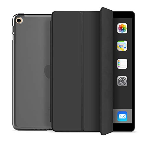 ZOYU iPad 5th Generation case iPad 6th Generation case iPad 9.7 2018/2017 case [A1822, A1823,A1893,A1954], Lightweight Cover with Auto Sleep/Wake, Hard Back Cover for iPad 5th/6th Gen 9.7 inch - Black