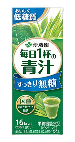 毎日1杯の青汁 すっきり無糖 200ml×24本 紙パック