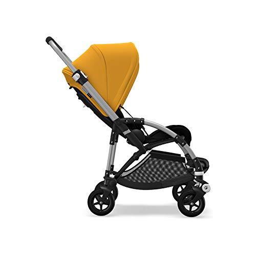 Bugaboo Bee 5, Foldable and Lightweight Pushchair, Converts Into Pram, Black/Sunrise Yellow
