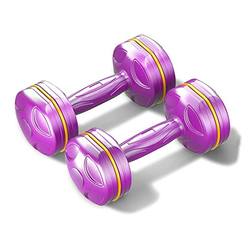 Dumbbell Set,Dumbbell Hand Weights Sets for Strength Training, Loss, Workout Bench, Gym Equipment, Best Home Gym Fitness Exercise for Legs, 2.2/3.3/4.4 Pounds Each,Purple