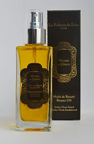 La Sultane de Saba - Olio de bellezza per il corpo Muschio d ambra sandalo, 100ml - Viaggiare in Oriente