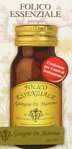 Dr. Giorgini Integratore Alimentare, Folico Essenziale Pastiglie - 50 g