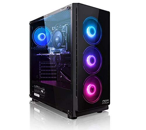 PC Gaming Ordenador de sobremesa Megamania AMD Ryzen 5 3350G 4GHz Turbo Quad Core | 16GB DDR4 | SSD 480GB | Gráfica AMD Radeon 1300 MHz