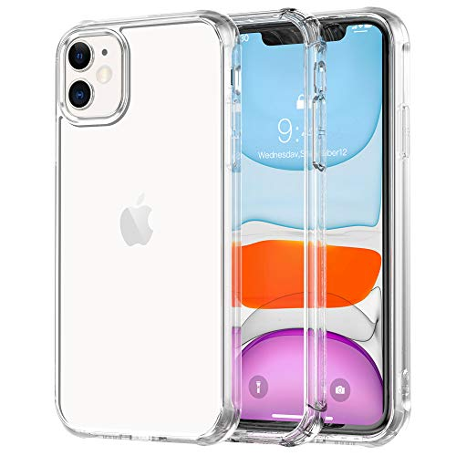 Legfes Phone Case Compatible with iPhone 11 – Crystal Clear iPhone 11 Protective Case - Ultra Slim Fit Shockproof TPU Rubber Phone Cover for 6.1 Inch