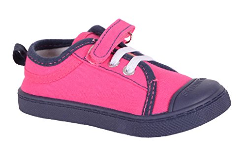 Skidders Baby Toddler Girls Canvas Shoes Style SK1030 (5) Hot Pink