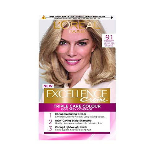 L\'Oreal Excellence Permanent Hair Colour 9.1 Light Ash Blonde