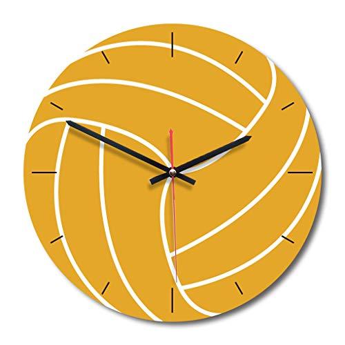 zhibeisai Round Wanduhr ohne Zahlen Basketball Fußball Baseball-Sport-Art-Uhr für Basketball Wanduhr Runde Wanduhr Jungen-Raum-Dekoration 2