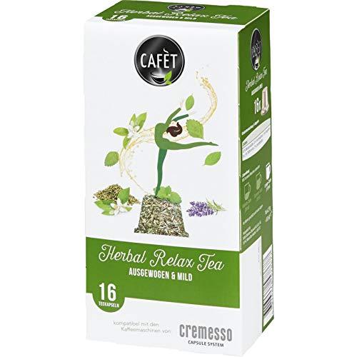 Cafét Kräutertee (Herbal Relax Tea) 5x16 Kapseln für Cremesso und Delizio Maschinen