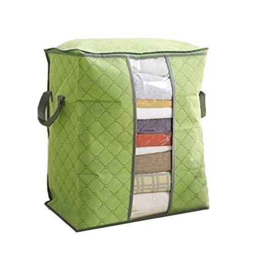 ZBXCVZH Non-woven Foldable Storage Box Portable Clothes Organizer Tidy Pouch Suitcase Home Storage Box Quilt Storage Container Bag (Color : 45x50x30cm green)