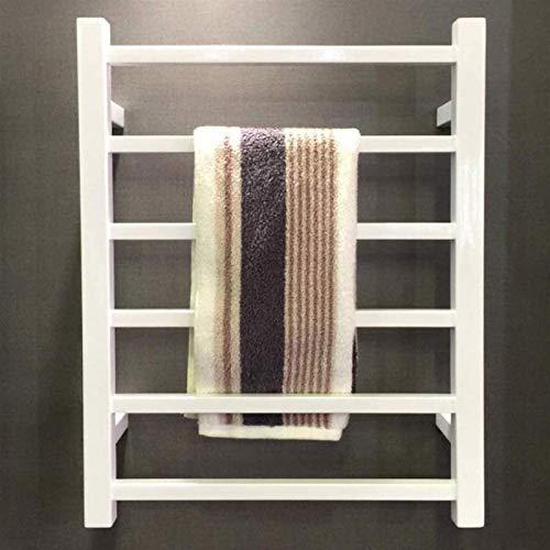 Rieles de toallero con calefacción Calentador de toallas negro, Calentador de toallas, Toallero eléctrico en aerosol de acero inoxidable Toallero de baño montado en la pared Toallero recto con calefac