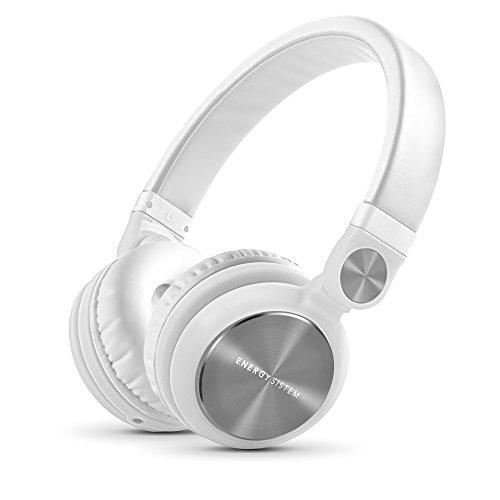 Energy Sistem DJ2 - Auriculares con micrófono Integrado en el Cable (rotación 180º, Flip-Up, Cable extraíble, Control Talk, Plegable), Color Blanco