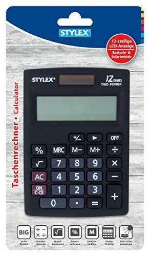Stylex 42860 - Taschenrecher Alpha, Größe 8,5 x 12 cm, 1 Stück