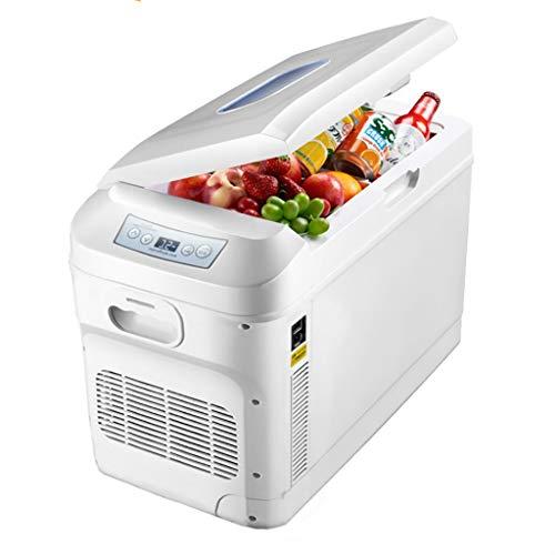 Yann Frigorífico para automóviles portátiles, refrigeradores compactos tranquilos (de pie o recostado) con función de enfriamiento y calentamiento, para hogar, dormitorio, automóvil, vacaciones, maqui