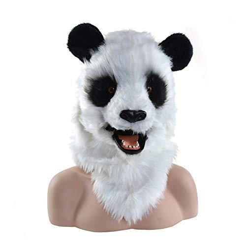 XuQinQin mscara de Halloween, la simulacin Gigante de Halloween mscara de Panda Fiesta mscara de los Animales de Peluche de Juego, la Boca Puede moverse hacia Arriba y hacia Abajo mscaras
