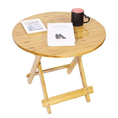 Tisch Bambus Kaffetisch Couchtisch Klappbar Beistelltisch Bistrotisch Massiv Holztisch Balkontisch Sofatisch Kratzfest Gartentisch Wohnzimmertisch Natur Esstisch Klapptisch für Terrasse Wohnzimmer