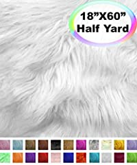 """✔ [ SOLD by INDIVIDUAL PIECES ] - Each order comes in Half-Yard Piece. If you choose quantity of 5, you will receive 5 separate Half-Yard pieces. ✔ [ PILE LENGTH ] - 2"""" - 2.5"""" Inches ✔ [ MATERIAL ] - 80% Acrylic & 20% Polyester ✔ [ MULTI-PURPOSE ] - ..."""