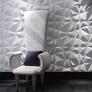 Art3d Decorative 3D Wall Panels Diamond Design Pack of 12 Tiles 32 Sq Ft (Plant Fiber)
