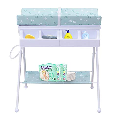 Ib-Style - Wickeltisch Und Badewanne | 2 In 1 Baby Wickelkommode | Faltbar | 3 Dekore | Babyaufbewahrungsbad | Wanneneinheit - Friends