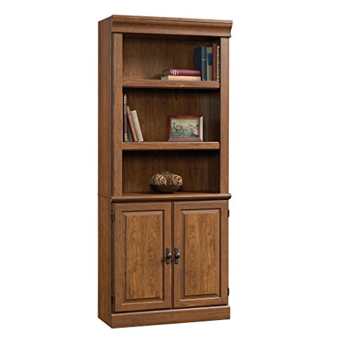 Sauder Orchard Hills Library with Doors, Milled Cherry finish