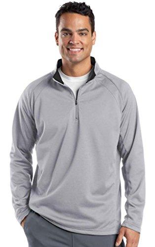 Sport-Tek® Sport-Wick® Fleece 1/4-Zip Pullover. F243 Silver/Black 3XL