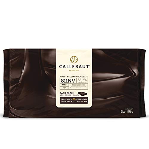 Callebaut Chocolate Block Semisweet 54.5% cocoa (11 Lb)