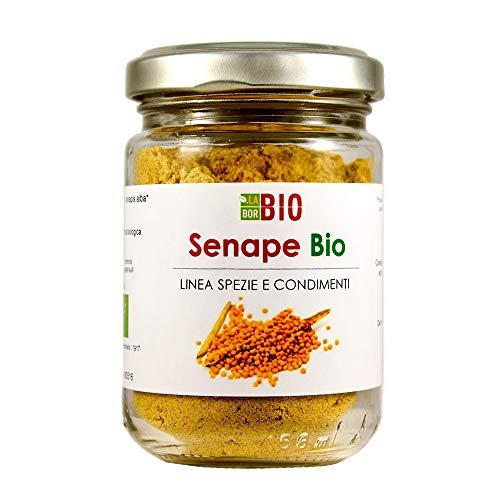 Senape gialla polvere Bio 50 g in vetro - 100% Naturale Vegan senza conservanti - Mostarda Salse Condimenti in cucina - LaborBio