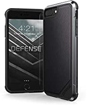 Raptic Lux, Compatible with Apple iPhone 8 Plus, iPhone 7 Plus, iPhone 6 Plus (Formerly Defense Lux) - Military Grade Drop Tested Case - iPhone 8 Plus, iPhone 7 Plus & iPhone 6 Plus, Black Leather