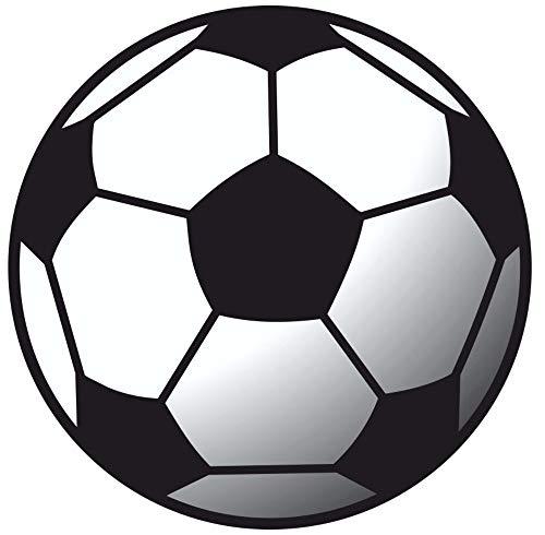 Samunshi® Fussball Aufkleber Sticker Autoaufkleber Scheibenaufkleber in 8 Größen (20x20cm Mehrfarbig)