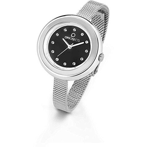 Milán negro OPS reloj Swarovski OPSPW-411 Lux Bon Bon