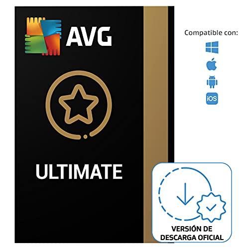 AVG Ultimate - Antivirus con AVG Secure VPN y AVG TuneUp para agilizar su PC - Para descargar   10 Dispositivo   1 Año   PC/Mac   Código...