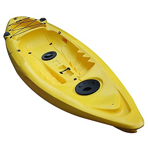 YUKM Kayak Portátil De 2 Plazas, Adecuado para Kayak para Adultos, Deportes Marinos, Bote Inflable Impermeable, Se Puede Usar Al Aire Libre, para Jugar Y Pescar (Amarillo)
