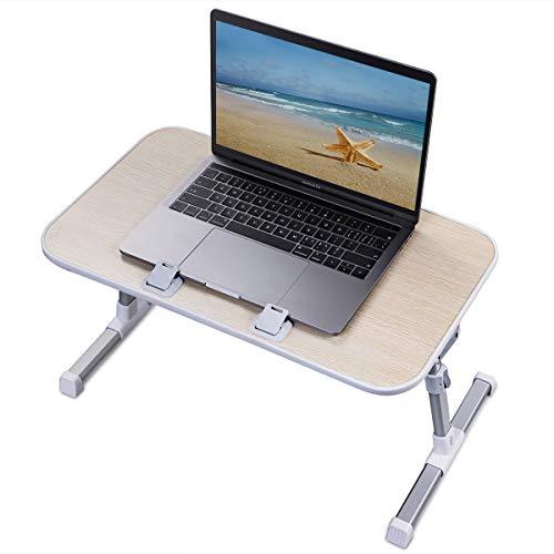 Inclinabile Noce DlandHome Comodino//Tavolino Multiuso per Letto o Divano con Cassetto Altezza Regolabile per Laptop//la Lettura//Colazione