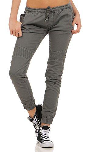 Urban Classics Damen Ladies Biker Jogging Pants Sporthose, Grau (Grey 00111), 48 (Herstellergröße: 4XL)