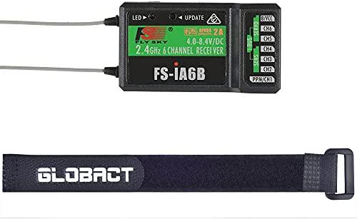 Globact Flysky FS-iA6B 6Ch Receiver 2.4G PPM Output with iBus Port Compatible Flysky i4 i6 i6X i10 Transmitter