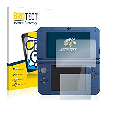 brotect Glass Screen Protector compatible with Nintendo New 3DS XL 9H Glass Protector, AirGlass