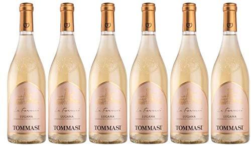 6er Vorteilspaket Tommasi Lugana Le Fornaci DOC 2019 | italienischer Weißwein | 6 x 0,75l | mit Weinausgießer (Dropstop)