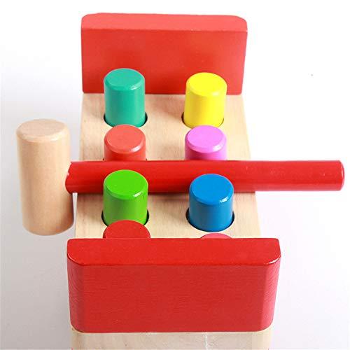 Hammer Toy - Pounding Bench Toy En Bois - Classic Hammer Toys, (Jouet Pour Enfants En Bois Avec Maillet, Excellent Cadeau Pour Les Filles Et Les Garçons - Idéal Pour Les Enfants De 2, 3 Et 4 Ans)