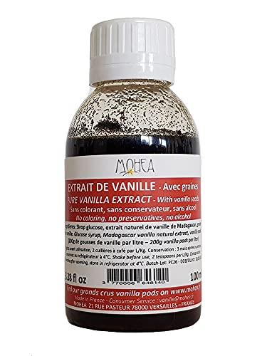 Estratto di vaniglia - Bourbon / MADAGASCAR - Con Semi - 200 g / L - 100ml / 3,38 once fluide