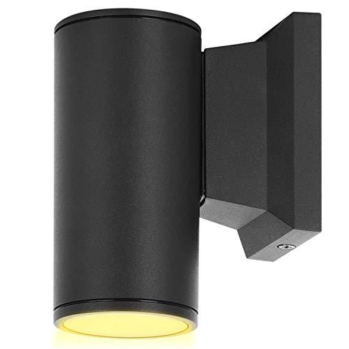 Aigostar Lampada da Parete Esterno Impermeabile IP65, GU10 Alluminio Lampada da Parete Esterni, Applique Moderna, Luce Esterno per Esterno Muro Portico Corridoio Terrazza, Nero