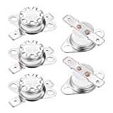uxcell KSD301 Thermostat 150°C/302°F Normal Closed N.C Adjust Snap Disc Temperature Switch for Microwave,Oven,Coffee Maker 5pcs