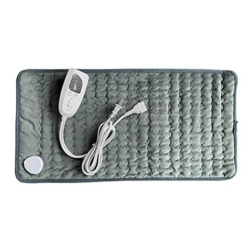 MOVKZACV Almohadilla de calefacción, manta eléctrica de sincronización suave, 6 opciones de temperatura eléctrica, para alivio del dolor de cuello y hombros y relajación corporal, lavable