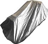 Infradesktrading Jet-Ski-Abdeckung mit Lüftungsöffnungen | Größe L 315 x B 160 x H 90cm | wasserfeste silbergraue Abdeckung mit Aufbewahrungsbeutel
